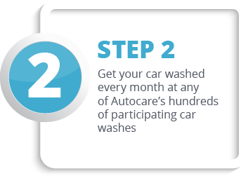 Get your car washed every month at any of Autocare's hundreds of participating car washes